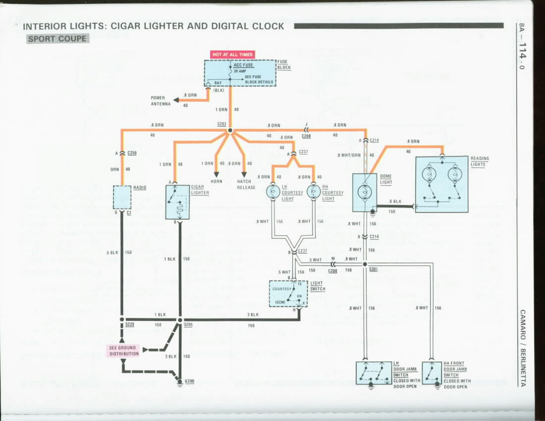 Fuse Location For Orange Constant 12 Volt Supply To Radio Tape 12v Diagram Should Be The Ctsy