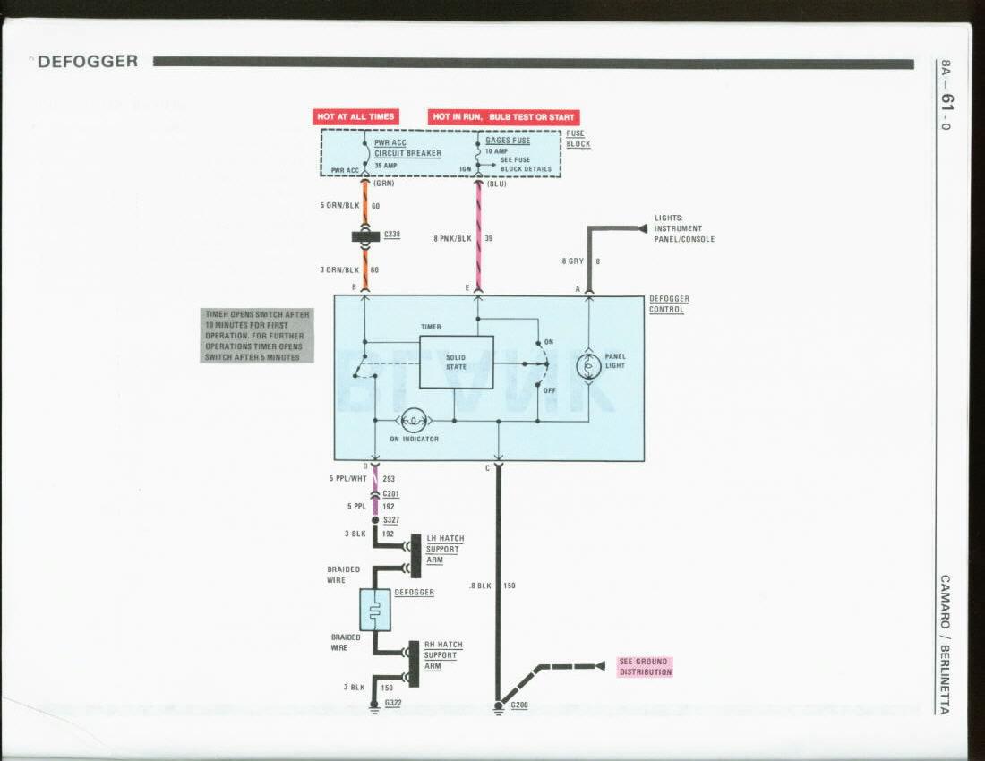 need 86 camaro rear defrost wiring schematics